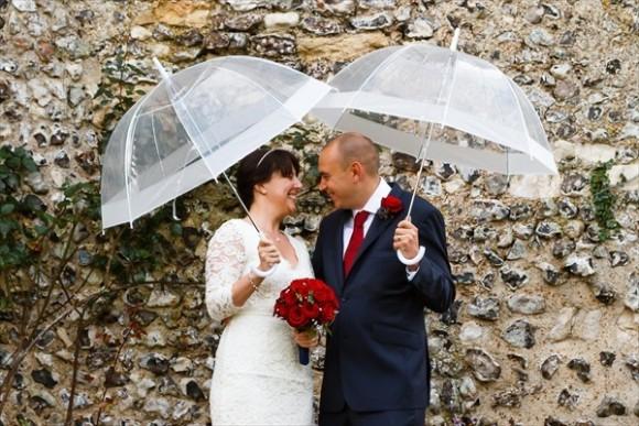 結婚式 写真 傘