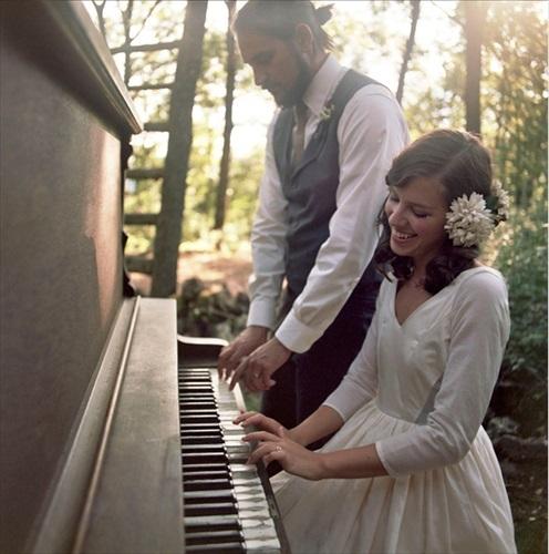 結婚式 ピアノと撮影