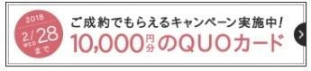 ハナユメ定額ウエディング QUOカードキャンペーン