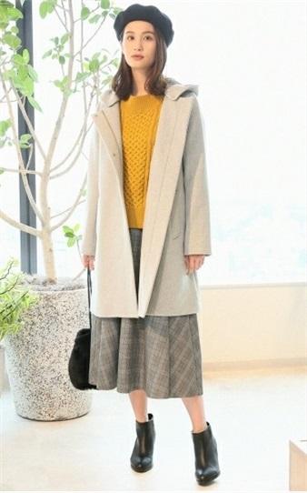 ブライダルフェアに行くときの服装 2WAYメルトンフードコート