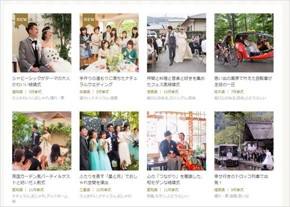 What a Wonderful Wedding! on Web 先輩カップル実例集! 2