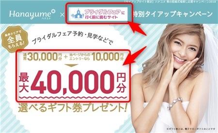 ハナユメ タイアップキャンペーン エントリー方法説明画像